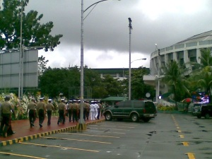 La Salle Greenhills during Cory Aquino wake (Shot by Anjo Bagaoisan)