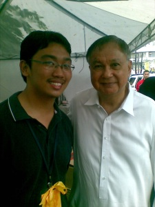 Anjo Bagaoisan with Sen. Joker Arroyo