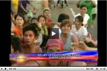 Pasig residents start to receive aid, report by Jorge Cariño, Bandila, Sept. 28, 2009