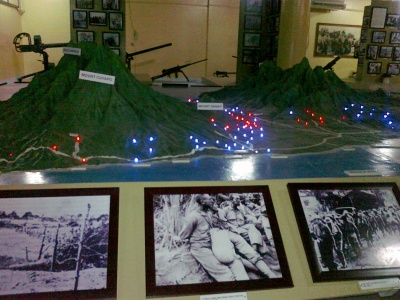 The mountains and shots of the Battle for Bataan in World War II, taken at the Dambana museum