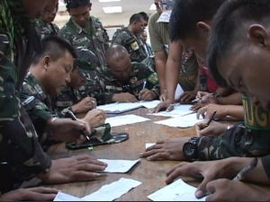 Cotabato army absentee voting 6th infantry division. Shot by ABS-CBN Cotabato's Nasser and Lerio Bompat