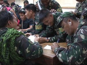 Cotabato army absentee voting by 6th infantry division. Shot by ABS-CBN Cotabato's Nasser and Lerio Bompat.