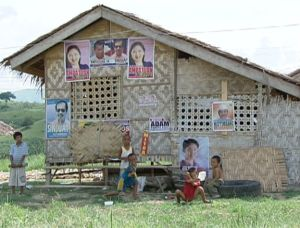 Posters of local candidates in Maguindanao, May 4. Shot by Gani Taoatao, ABS-CBN News cameraman