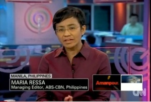 Maria Ressa, still offering news and analysis for CNN while at ABS-CBN News.