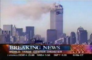 CNN breaks the September 11 attacks