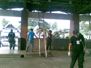Bomb squad combing for evidence at Zamboanga Airport