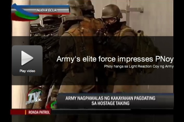 Sept 10 Jorge Carino TV Patrol PNoy army Fort Magsaysay