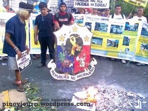Oct 7 PNoy hundred days rally mendiola Hacienda Luisita farmers