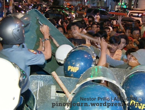 Oct 6 PNoy hundred days Rally at mendiola shot by nestor prillo ABS-CBN