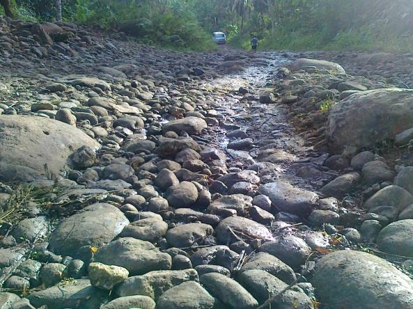 Rocky uphill road in Prosperidad, Agusan del Sur Shot by Anjo Bagaoisan