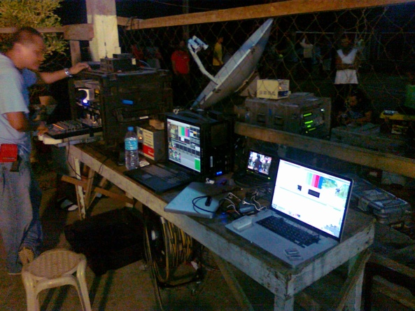 ABS-CBN satellite set up in Agusan del Sur Shot by Anjo Bagaoisan