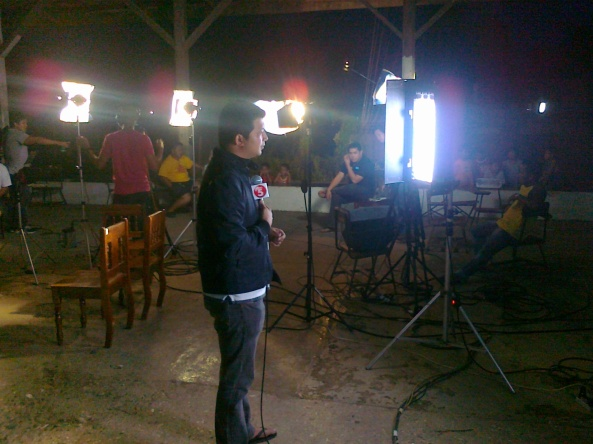 TV5, ABS-CBN, GMA 7 set up at Agusan del Sur Shot by Anjo Bagaoisan