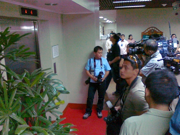 Cameramen waiting for Senator Lacson, March 28 Shot by Anjo Bagaoisan