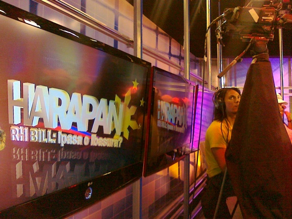 Cameraman at ABS-CBN Harapan Studio (Shot by Anjo Bagaoisan)