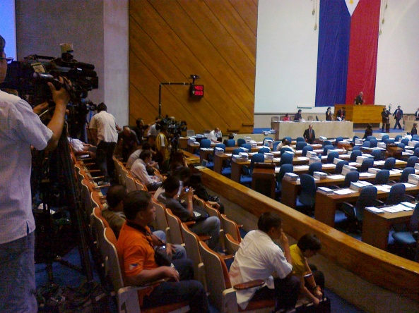 The media gallery at the Philippine House of Representatives (Shot by Anjo Bagaoisan)