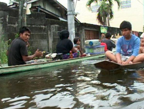 Cotabato Riding boats through floods June 18 RNG Cotabato