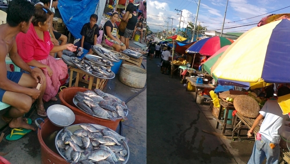 Makeshift market stalls in flooded Calumpit, Bulacan October 2011 Shot by Anjo Bagaoisan
