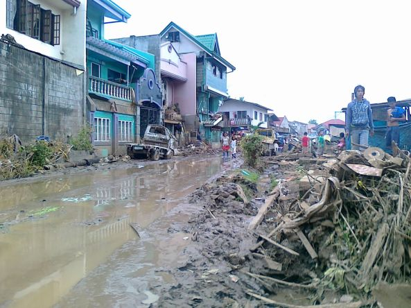 One of the CDO villages ravaged by Sendong. (Shot by Anjo Bagaoisan)
