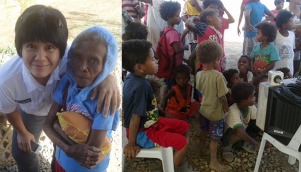 RNG News Head Charie Villa and the Aetas of Nabuclod (Shots by Maricar Asprec and Anjo Bagaoisan)