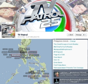 Trending online: TV Patrol Facebook timeline and #TVPatrol25