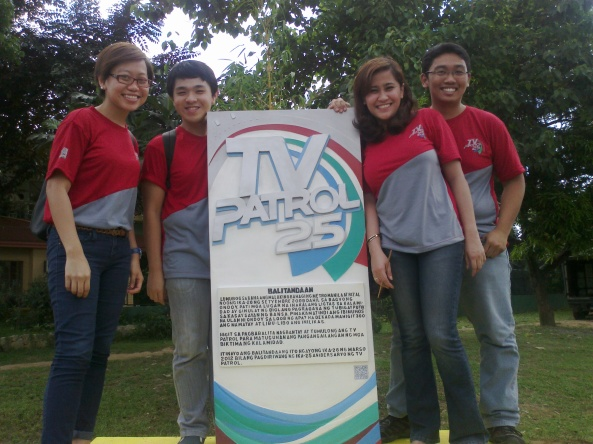 Group picture at the TV Patrol Marikina Marker