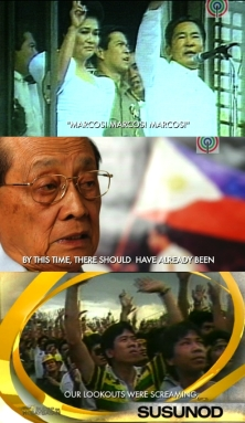 Screenshots from EDSA 25: Sulyap sa Kasaysayan, New York Festival finalist