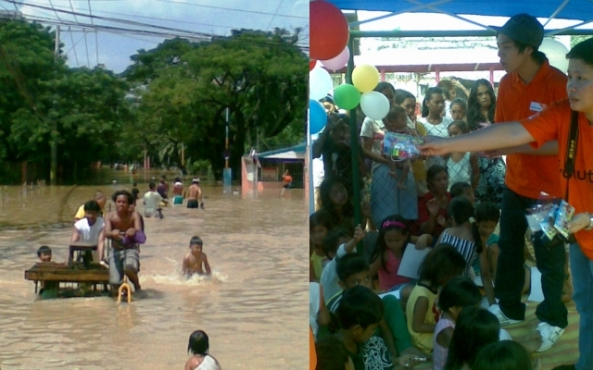 Pictures of destruction and help in Typhoon Ondoy in 2009. (Shots by Anjo Bagaoisan)