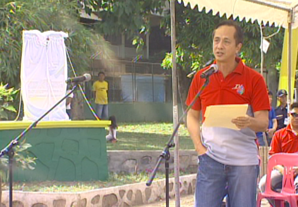ABS-CBN Chairman and CEO at the TV Patrol marker unveiling in Marikina. (ABS-CBN News footage)