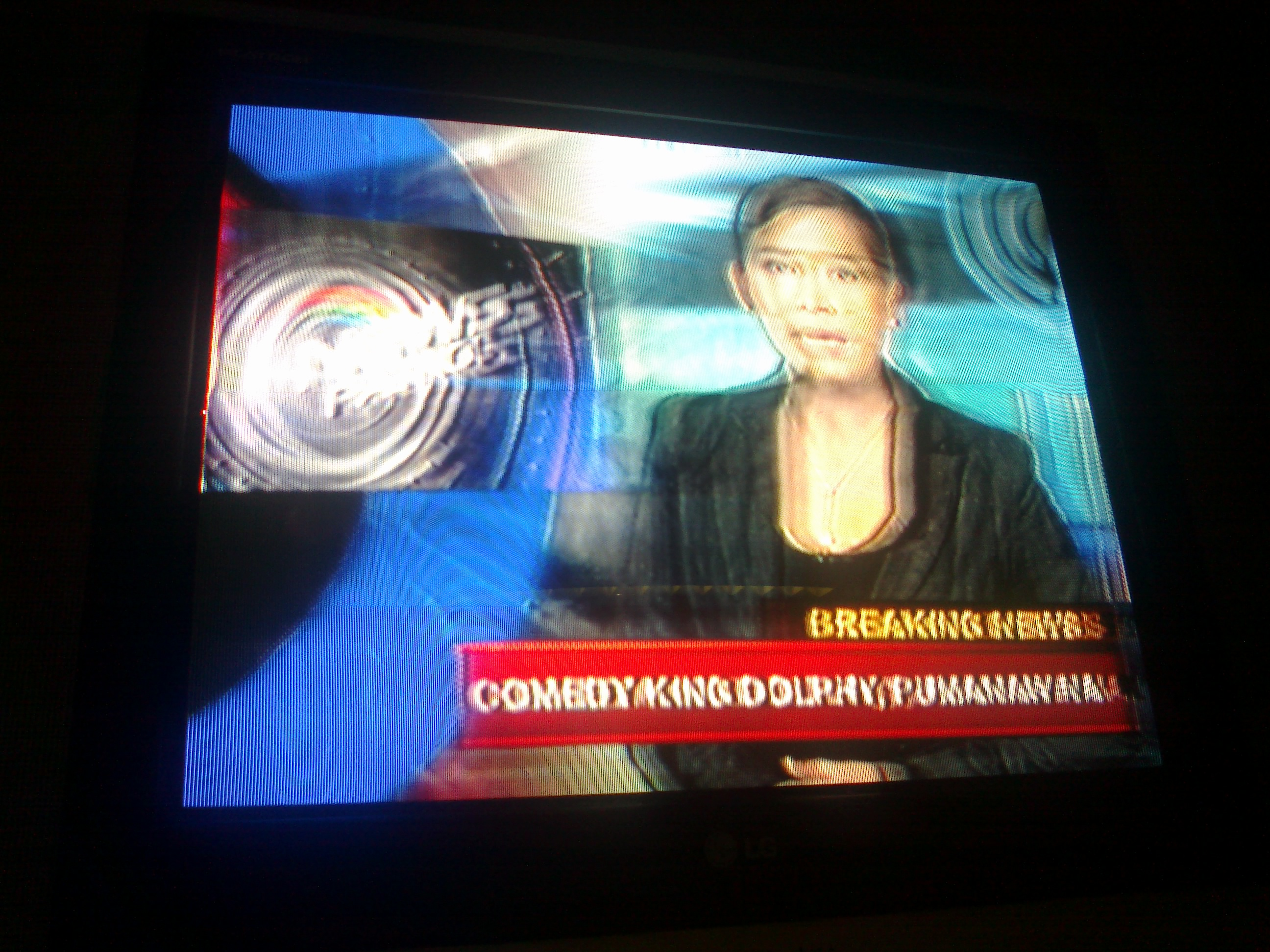 Sol Aragones Breaking News Of Dolphys Death On ABS CBN Patrol July 10