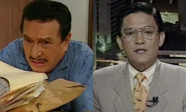 Dolphy in Home Along Da Riles and Angelo Castro, Jr. in The World Tonight (Courtesy: ABS-CBN)