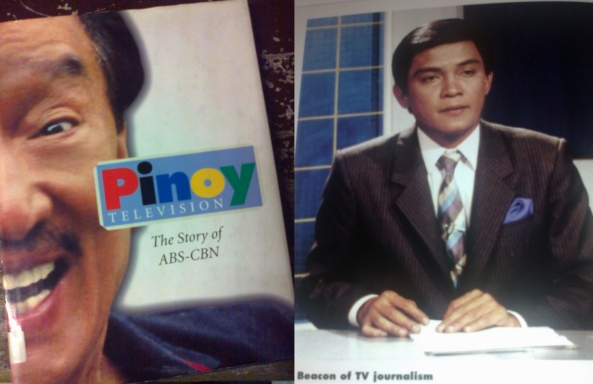 Dolphy on the cover of the book: Pinoy Television, The Story of ABS-CBN, and Angelo Castro, Jr. on its pages (Shot by Anjo Bagaoisan)