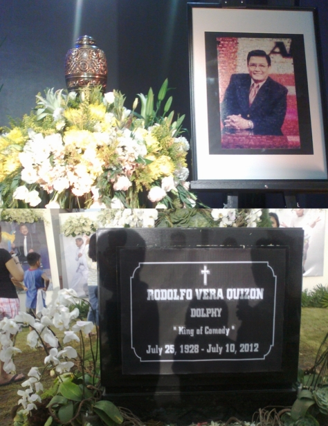 Angelo Castro, Jr.'s urn and Dolphy's tomb (Shots by Anjo Bagaoisan)