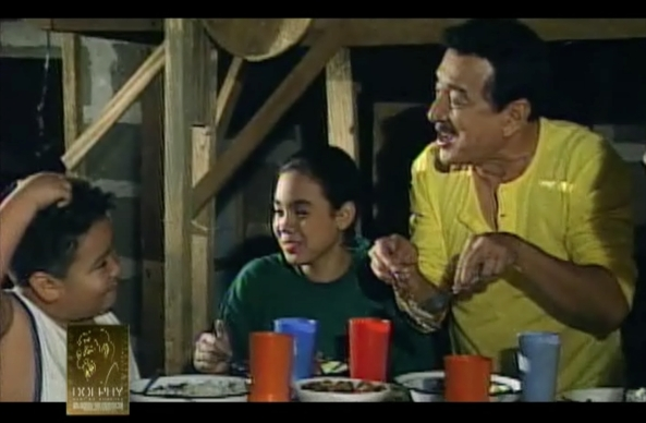 Dolphy, Vandolph, and Claudine Barretto in Home Along Da Riles (Courtesy: ABS-CBN)