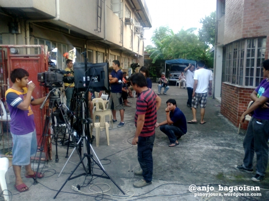 Media setups at the Robredo residence in Naga City Shot August 20, 2012 By Anjo Bagaoisan