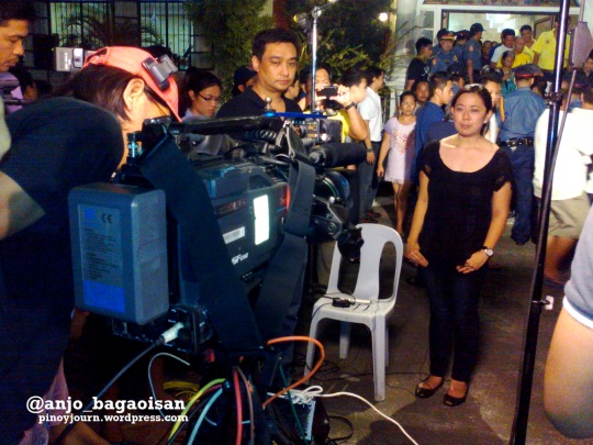 Jesse Robredo's daughter Aika is interviewed live on Bandila from Naga (Shot August 21, 2012 by Anjo Bagaoisan)