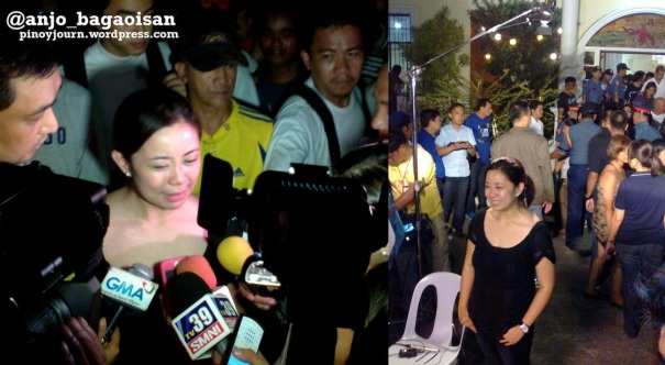 Aika robredo faces media cameras during the wake of her father Jesse (Shot August 21, 2012 by Anjo Bagaoisan)
