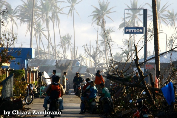 A roadside in Baganga, Davao Oriental after it was hit by Typhoon Pablo. (Shot by Chiara Zambrano)