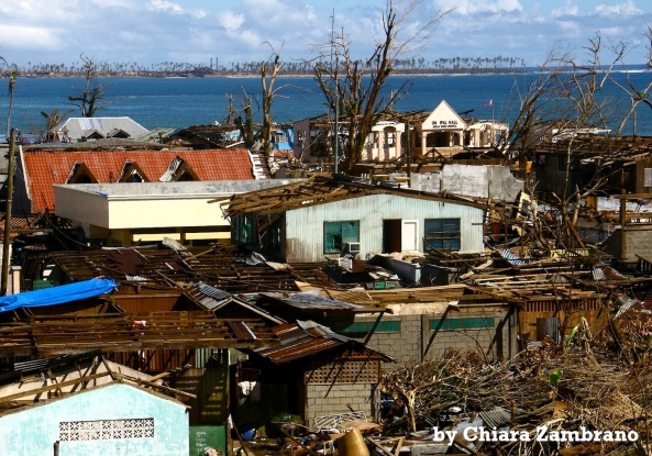 View of Baganga town in Davao Oriental after it was struck by Typhoon Pablo (Shot by Chiara Zambrano)