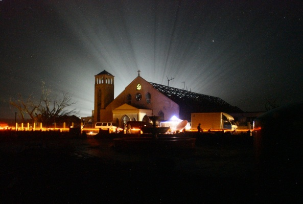 Cateel church at night by Chiara