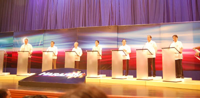 ABS-CBN's Harapan in 2010, and the US Presidential Debates in 2012