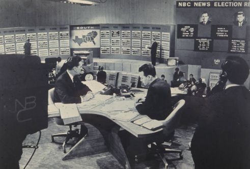 Chet Huntley and David Brinkley of NBC anchor the network's 1960 election coverage (Courtesy NBC/The Hugh Morton Collection)