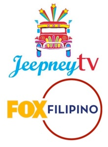 Composite logo of rerun cable channels Jeepney TV and FOX Filipino