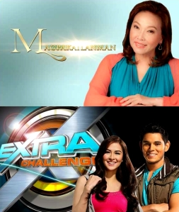 Logos / Title cards of GMA 7's 2012 revival shows: Magpakailanman & Extra Challenge
