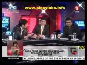 T3 hosts Raffy, Erwin and Ben Tulfo (Screenshot from TV5)