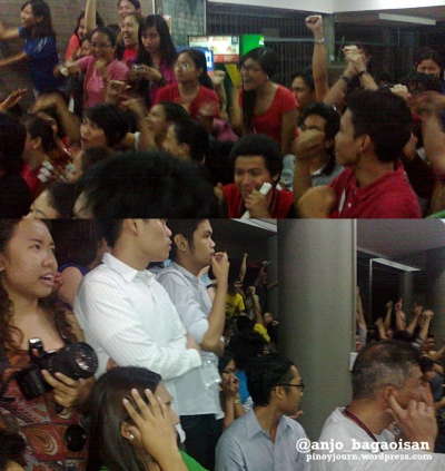Supporters of the 3 parties react as their bets win (and don't win) in the 2013 USC elections. (Shots by Anjo Bagaoisan)
