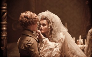 Pip and Miss Havisham, played by Helena Bonham Carter in the most recent movie version of Great Expectations (Courtesy Telegraph.co.uk)