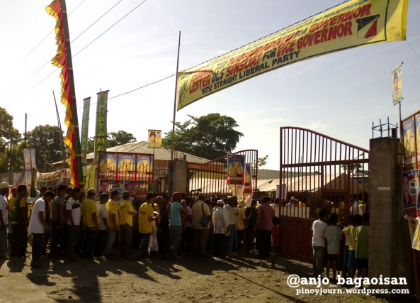 Entrance to Liberal Party proclamation rally in Buluan, Maguindanao (Shot by Anjo Bagaoisan, April 12, 2013)