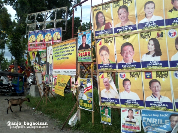 2013 Campaign posters on the streets of Buluan, Maguindanao (Shot by Anjo Bagaoisan)