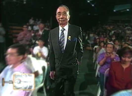 Geny Lopez at the 10th anniversary of TV Patrol in 1997 (Courtesy: ABS-CBN)