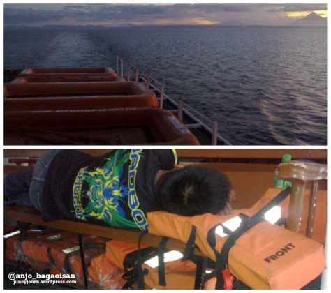 Life boats and life jackets at the M/V Lady of Miraculous Medal (Shots taken on June 15, 2013 by Anjo Bagaoisan)